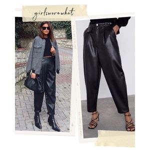 ZARA Slouchy faux leather trousers
